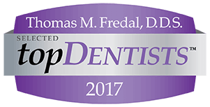 Thomas M. Fredal Fredal Dentistry Top Dentist 2017 Badge